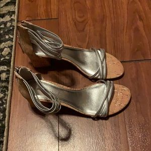 Silver sandals for women